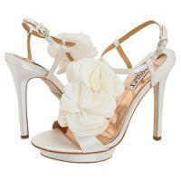 Свадебные босоножки на высоком каблуке 1