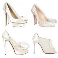 Свадебные босоножки на высоком каблуке 5