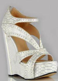 Свадебные туфли на платформе 2