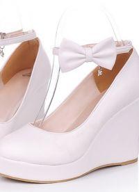 Свадебные туфли на платформе 6