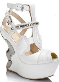 Свадебные туфли на платформе 7
