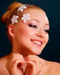 Cвадебный макияж для блондинок 7