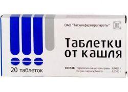 Таблетки от кашля с термопсисом