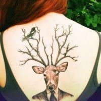 что означает тату олень