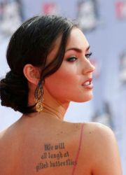 Татуировки меган фокс