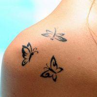 женские татуировки на плече 5
