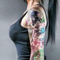 женские татуировки на плече 7