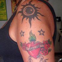 женские татуировки на плече 8