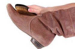 Уход за замшевой обувью зимой