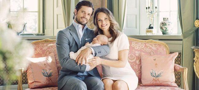 В сети появились официальные снимки принца карла филиппа и принцессы софии с новорожденным сыном