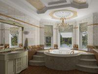 Ванная комната в частном доме 5
