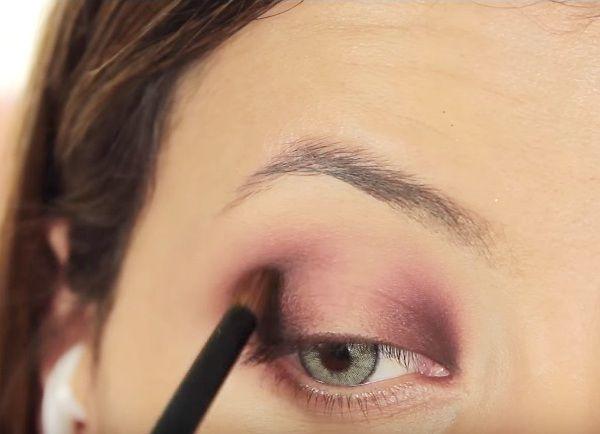 как сделать вечерний макияж глаз 11