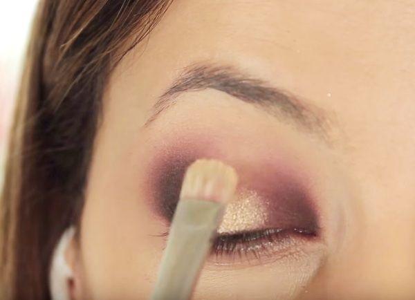как сделать вечерний макияж глаз 12