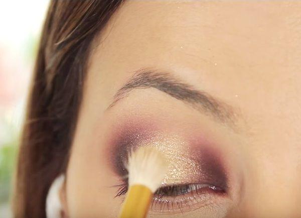 как сделать вечерний макияж глаз 14