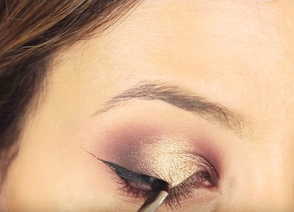 как сделать вечерний макияж глаз 15
