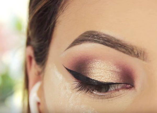 как сделать вечерний макияж глаз 16