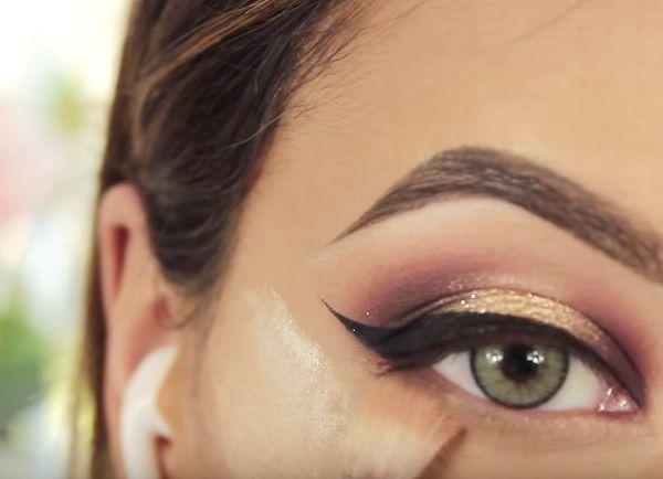 как сделать вечерний макияж глаз 17