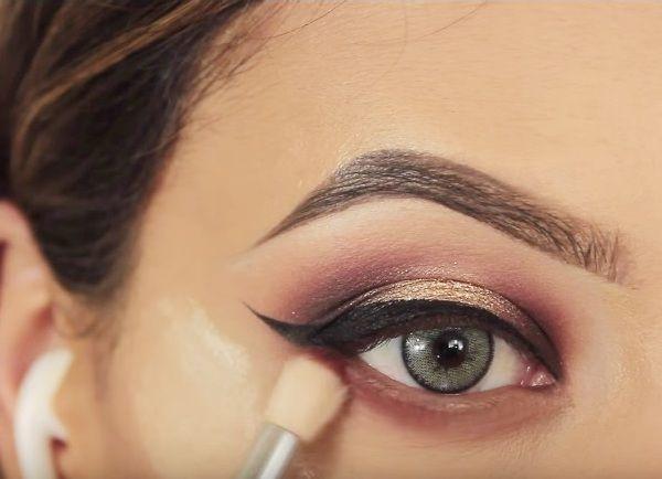 как сделать вечерний макияж глаз 18