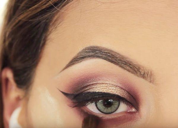 как сделать вечерний макияж глаз 19