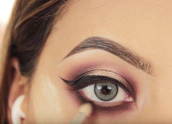 как сделать вечерний макияж глаз 20