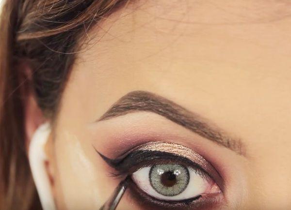 как сделать вечерний макияж глаз 21