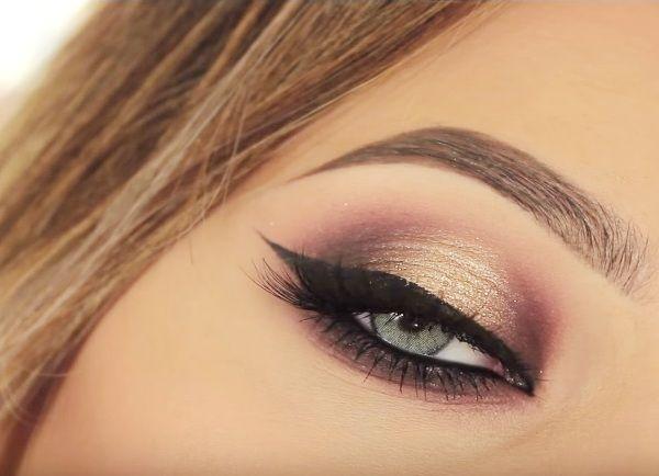 как сделать вечерний макияж глаз 23