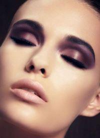 макияж глаза вечерний поэтапно 7
