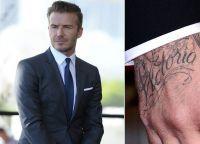 Дэвид Бекхэм посвятил татуировку жене Виктории