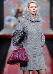 Вязаное пальто 2015