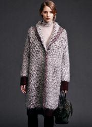 Вязаные пальто – мода 2015