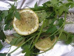 Запеченная скумбрия с лимоном