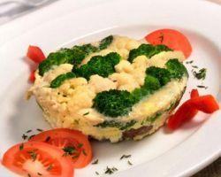 Запеканка из брокколи и цветной капусты