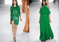 Зеленые платья 2015