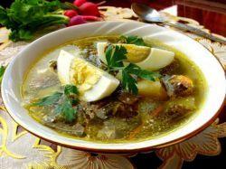 Зеленый борщ со щавелем - рецепт