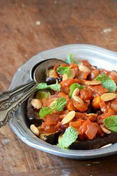 Жареные баклажаны с помидорами