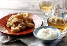Рецепт жареные кальмары в кляре