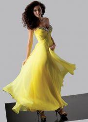 Желтое платье 2013