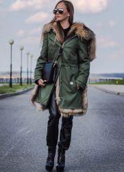 женская зимняя парка с натуральным мехом