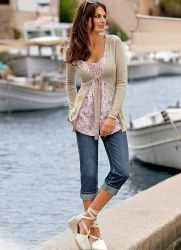 Женские джинсовые капри 2013