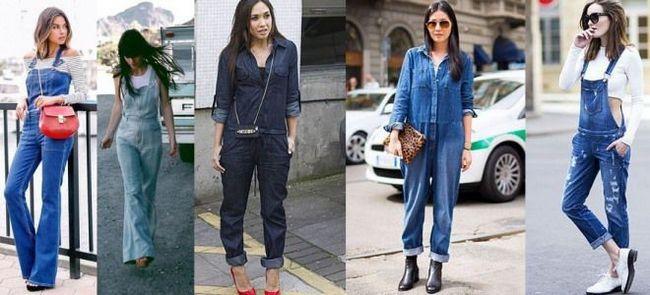 Женские джинсовые комбинезоны 2016