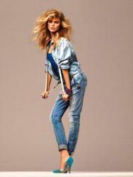 Женские джинсовые рубашки 2015