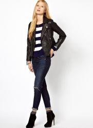 Женские кожаные пиджаки 2013