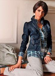 Женский джинсовый пиджак 2013