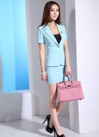 Женский костюм с юбкой 2015 10