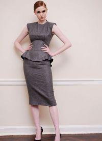 Женский костюм с юбкой 2015 1