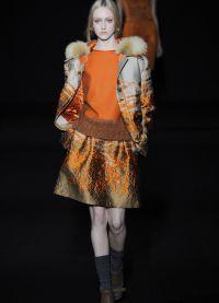 Женский костюм с юбкой 2015 6