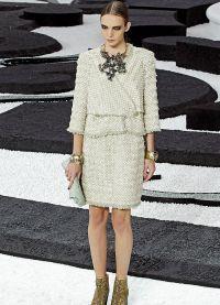 Женский костюм с юбкой 2015 8