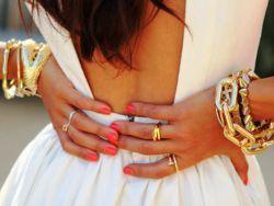 Женский золотой браслет на руку