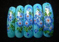 жостовская роспись на ногтях2
