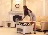 Журнальный стол-трансформер для гостиной11